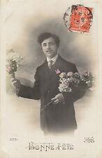 Carte postale fantaisie ancienne    carte bonne  fête  No 3