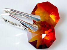 *OCTAGON* 27 Schöne Farben Silber 925 WUNDERBAR Ohrringe mit Swarovski Elements