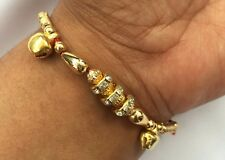 Talisman Protection Hindu Mauli two dangling bells Crystal Rings LUCKY Bracelet