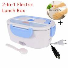 Boîte à Repas Lunch Box Nifogo Chauffant Électrique Inox 12V/220V 2 en 1 Bleu