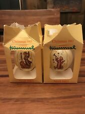 Lot of 2 Hummel Christmas 1983 Ornament - Ars Edition