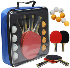 New listing Ping Pong Paddle Set 4 Professional Table Tennis Rackets Paddles 8 Premium NEW