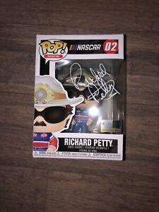 RICHARD PETTY SIGNED POP FUNKO NASCAR RACING LEGEND HALL OF FAME HOF COA