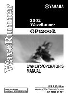 Yamaha Waverunner GP 1200 R 2002 Owners Operators Manual Paperback Free Shipping