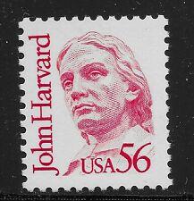 US Scott #2190, Single 1986 John Harvard 56c FVF MNH