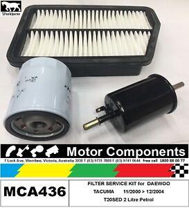 FILTER SERVICE KIT Air Oil for DAEWOO TACUMA T20SED 2L11/00>12/04