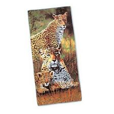 LEOPARD MICROFIBER BEACH TOWEL Colorful MACHINE WASH NEW in pkg! Leopards