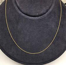 "18K Y/G 16"" Bead Chain"