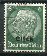 FRANCE TIMBRE  ALSACE LORRAINE  N° 11  OBL  TIMBRE ALLEMAND HINDENBOURG