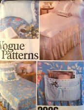 UC Vogue 2006 Sew Pattern Bed Pillow Back Rest Caddy Dust Ruffle Cover Spread