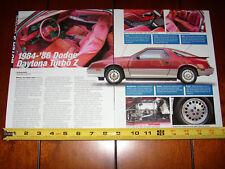 1984 - 1985 - 1986 DODGE DAYTONA TURBOCHARGED Z ***ORIGINAL 2006 ARTICLE***