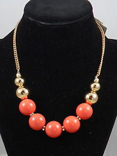 Kenneth Cole New York Goldtone Coral Ball Sphere Frontal Necklace $45