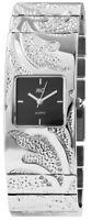 MC Timetrend Germany Damenuhr Schwarz Silber Strass Metall Armbanduhr X50573