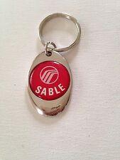 Mercury Sable Keychain Chrome Metal Key Chain