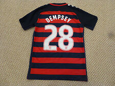 RARE NWT Nike 2017 CONCACAF Gold Cup USA #28 Dempsey Authentic Navy Red Jersey M