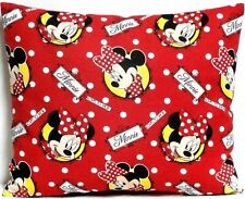 Toddler Pillow for Minnie Mouse on Red 100%Cotton M19 New Handmade