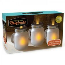 Brand New 3-Pack: Mason Jar Tealight Set
