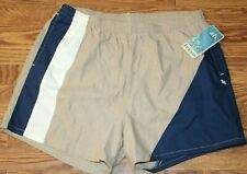 NWT Vintage Deadstock JANTZEN Navy/Tan Colorblock Swim Shorts Mesh Brief Sz XL