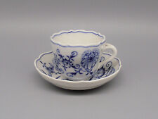 More details for antique 19thc meissen blue & white onion pattern cup & saucer circa 1870