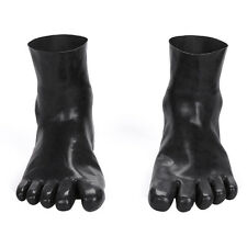 Sexy Latex Rubber Toe Socks Gummi 0.4mm Unisex Socks Unique New Size M