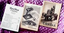 Three Early Zeiss Contax I Camera & Accessories Catalogs – Super Clean - 1934/5
