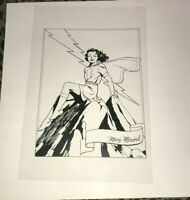 Captain Marvel Mary Marvel Shazam Sexy cheesecake Pin Up Production Art Acetate