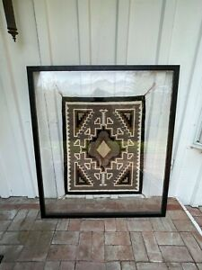 Two Grey Hill Navajo Rug /Amazing. Includes framing