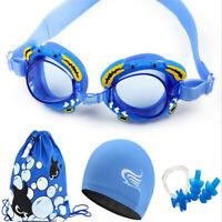 Kids Anti Fog swimming Glasses Child Cartoon Professional Swim Goggles Cap suit