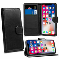 Case For Apple iPhone XS X Black Flip Wallet Leather Cover Magnetic Protective
