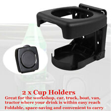 2x Multi-function Car Auto Folding Beverage Drink Cup Bottle Holder Stand Mount