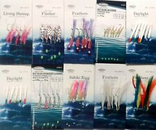 10 Assorted Bait & Mackerel Sea Fishing Rigs Inc. Feathers Daylights and Sabiki