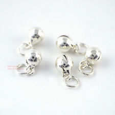 5x 925 Sterling Silver Round Bell Ball Bear Spacer Bead Charm DIY 5mm A2530