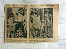 1926 Mr Mrs George Atkins Pearly King And Queen Of Walham Green, Son George