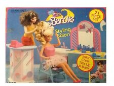 Estilo Vintage Barbie Magic Styling Salon Conjunto de Juego (Mattel 1988) no 7325 Raro Difícil De Encontrar