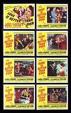 LOVE IS BETTER THAN EVER * MOVIE POSTER LOBBY CARD SET 1952 ELIZABETH LIZ TAYLOR