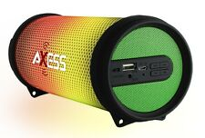 Axess Dancing LED Lights HiFi Bluetooth Rechargeable Speaker (Green) SPBL1043GN