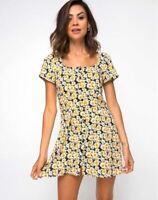 MOTEL ROCKS Zavacca Dress in Delightful Daisy Extra Small XS  (mr65)