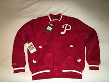 NWT Authentic Mitchell & Ness PHILADELPHIA PHILLIES Varsity Wool Jacket LG $250