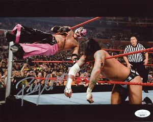 Rey Mysterio WWE Wrestling 8x10 Photo Signed Autographed JSA Certified COA Auto