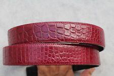 Burgundy Genuine Alligator , Crocodile Belly Leather Skin MEN'S Belt