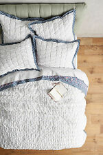 Anthropologie Madia King Quilt with 2 King and 2 Euro shams