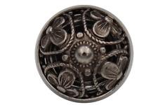 filigrane silber antik Metall Knöpfe Dirndl Tracht Gewand gewölbt 6 Stück