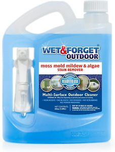 Wet & Forget No Scrub Outdoor Cleaner for Easy Removal of Mold, Mildew and Algae