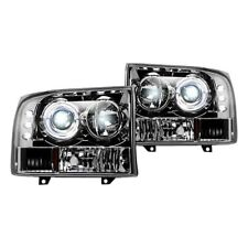 Recon Chrome Halo Projector Headlights with LED DRL for 99-04 F250/350/450/550