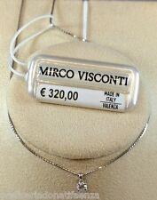Collier oro bianco 18kt 750/°°° MIRCO VISCONTI Punto luce con Diamante