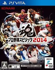 Used PS Vita Pro Baseball Spirits 2014 SONY PLAYSTATION JAPANESE IMPORT