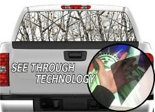 P333 CAMO CAMOUFLAGE Tree Real Snow Rear Window Tint Graphic Decal F150 Ram 1500