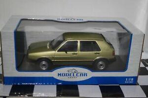 MODELCAR Group Volkswagen Golf Mk2 GTI Green 1:18 Scale MCG18203