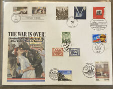 FDC FIRST DAY COVER SEVEN COUNTRIES THE WAR IS OVER