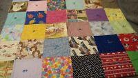 "Vintage: Handmade Baby Child Blanket Quilt Nursery Crib Decor   30"" x 31""     F8"